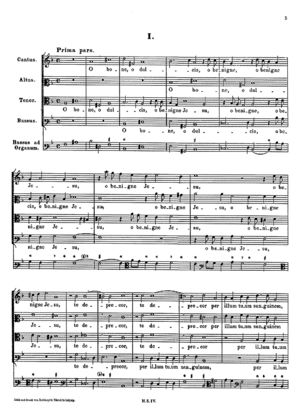 O bone, o dulcis, o benigne Jesu (Prima pars)
