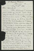 Letter from Samuel Winter Cook to My dear Cecil, August 18, 1885