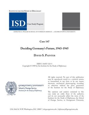 Deciding Germany's Future, 1943-1945