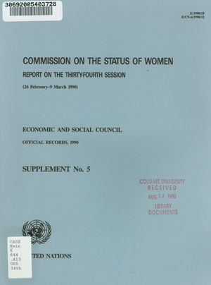 Report of the 34th Session, 26 February-9 March 1990