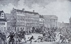 Disturbances on the Dam in Amsterdam, 1848