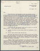 Copy of Letter from the Minister of Food re: Surplus Produce from Overseas Producing Countries, August 3, 1940