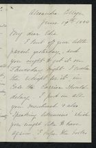 Letter from Charlotte Hearn to Edith Thompson, June 19, 1884