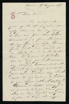 Letter from Anthony Sasso to Samuel Pratt Winter, August 21, 1867