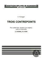3 Contrepoints: 2 Choral A 3 Voix (Set of parts)