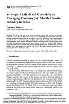 Strategic Analysis and Growth in an Emerging Economy (A): Mobile Handset Industry in India