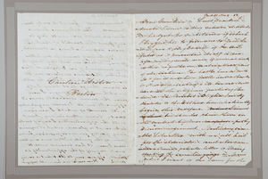 Letter from Sarah Pugh to Caroline Weston, November 9, 1852