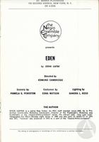 Playbill for Eden by Steve Carter