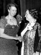 Eleanor Roosevelt (1884-1962) and Helen Keller in 1936