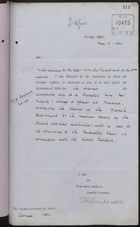 Correspondence re: Thanks of Spanish Government for Measures Taken by British Colonial Authorities in Connection with Cuban Rebellion, May 13, 1896