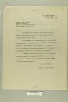 Letter from Joseph Shapiro to Captain John B. Trevor, March 17, 1919