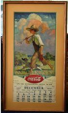 Boys' Room Dressing: Coco-Cola Calendar 1937