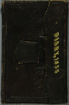 Diary Front Cover and Printed Matter, 1855