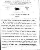 Origins of the Peace Department of the W.C.T.U.