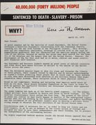 40,000,000 (FORTY MILLION) PEOPLE SENTENCED TO DEATH - SLAVERY - PRISON