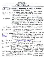 Agenda for SPREE Meeting, February 12, 1974