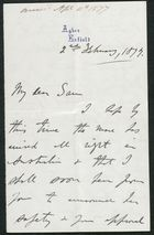 Letter from James Winter to Samuel Pratt Winter, April 11, 1877