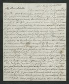 Letter from Francis Pratt Winter to Arbella Winter Cooke, August 20, 1838