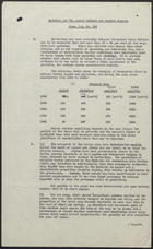 R.S. Memo No. 104 from R.P. Askew to Mr. Edmund G. Harwood re: Material for the August Cabinet and General Reports, September 11, 1946