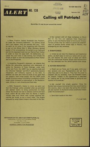 Alert, no. 138, September 1976