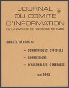 Etudiants de la Faculté de Médecine De Paris, Réunis En Assemblée Générale à la Nouvelle Faculté Le 16 Mai 1968