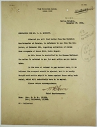 Correspondence re: Rent Due on Panama Railroad House No. 106, Pedro Miguel, December 1914