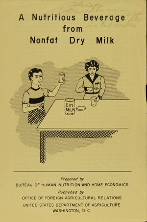 A Nutritious Beverage from Nonfat Dry Milk