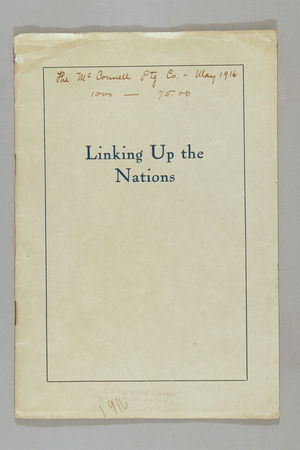 Linking up the Nations: A Sketch of the Work Directed by the Foreign Secretaries Financed by the National Board of the Young Women's Christian Associations of the United States.