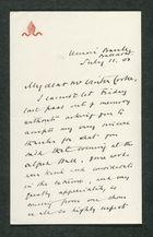 Letter from Samuel Thornton to Samuel Winter Cooke, July 11, 1900