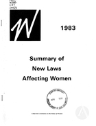 1983 Summary of New Laws Affecting Women
