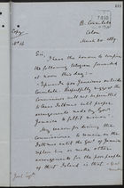 Copy of Letter from C. Mallet to L. Joel re: Protest Against Dr. Gayleard's Leaving Isthmus, March 20, 1889
