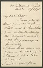 Letter from Edward Howitt to Edith Thompson, February 8, 1898