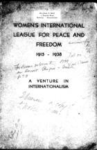 Booklet:  A Venture in Internationalism