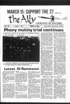 Ally: A Newspaper for Servicemen, Volume 1, Issue 14, The Ally, Vol. 1 no. 14, March 1969