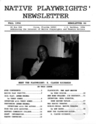 Native Playwrights' Newsletter, #6 Fall 1994