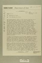 Telegram from Edward B. Lawson in Tel Aviv to Secretary of State, February 16, 1956