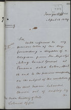 Letter from T. H. Sanderson to Under Secretary of State, Colonial Office, re: Condition of West Indian Labourers, April 13, 1889