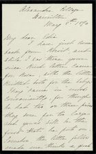 Letter from Charlotte Hearn to Edith Thompson, May 8, 1890