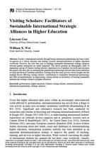 Visiting Scholars: Facilitators of Sustainable International Strategic Alliances in Higher Education
