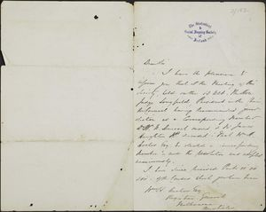 Letter from Mack S. O'Shaughnassy to William Henry Archer, June 17, 1865