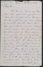 Letter from Anthony Sasso to Samuel Pratt Winter, April 20, 1868