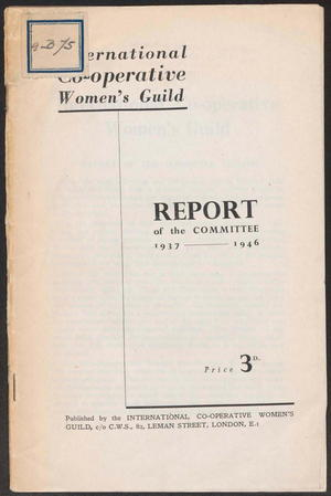 Report of the Committee 1937-1946