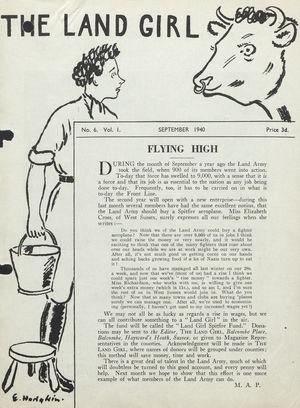 The Land Girl, Vol. 1, No. 6, September 1940