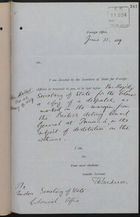 Letter from T. H. Sanderson to Under Secretary of State, Colonial Office, re: Destitution on the Isthmus, with Enclosed Letter from C. Mallet to Marquis of Salisbury, June 12, 1889