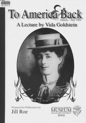 To America and Back, January-July 1902: A Lecture