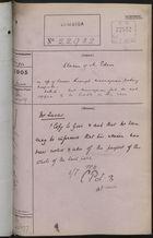 Correspondence Cover Sheet re: Claim of Mr. Eden, June, 1905