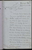 Letter from T. V. Lister to Under Secretary of State, Colonial Office, re: Repatriation Expenses for West Indian Canal Workers, January 12, 1889