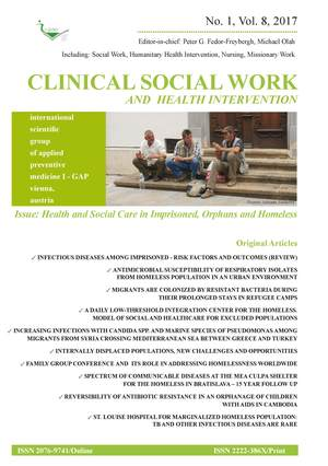 Clinical Social Work and Health Intervention, No. 1, Vol. 8, 2017, Clinical Social Work, No. 1, Vol. 8, 2017