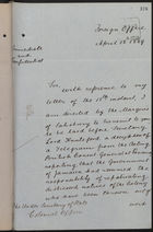 Letter from T. H. Sanderson to Under Secretary of State, Colonial Office, re: Gov't of Jamaica Resumes Repatriation, with Telegram from Consul Mallet, April 18, 1889