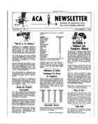 ACA Newsletter, Vol. 2 no. 4, September 8, 1964